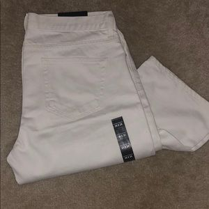 Men's white brand new banana republic jeans